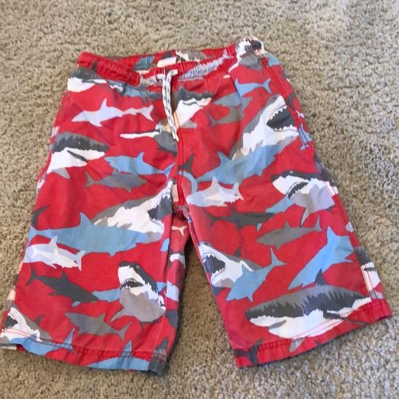 b30c1513f7 Mini Boden swim trunks. Shark print. M_5bc9e7fe9519964b7a2d7cbf